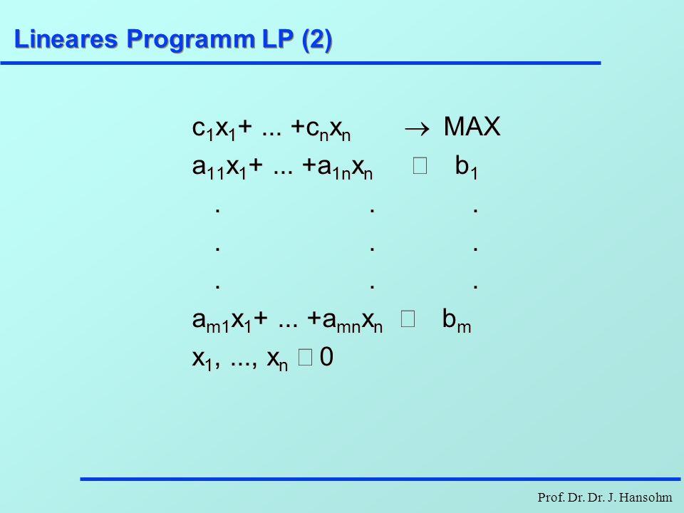 Lineares Programm LP (2)