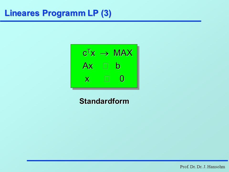 Lineares Programm LP (3)