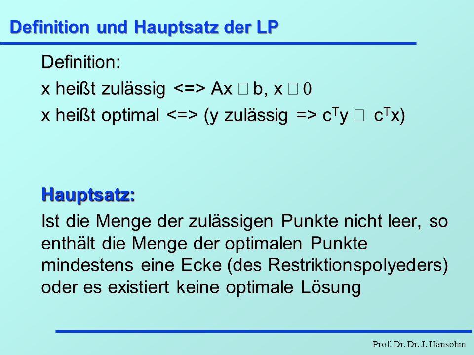 Definition und Hauptsatz der LP