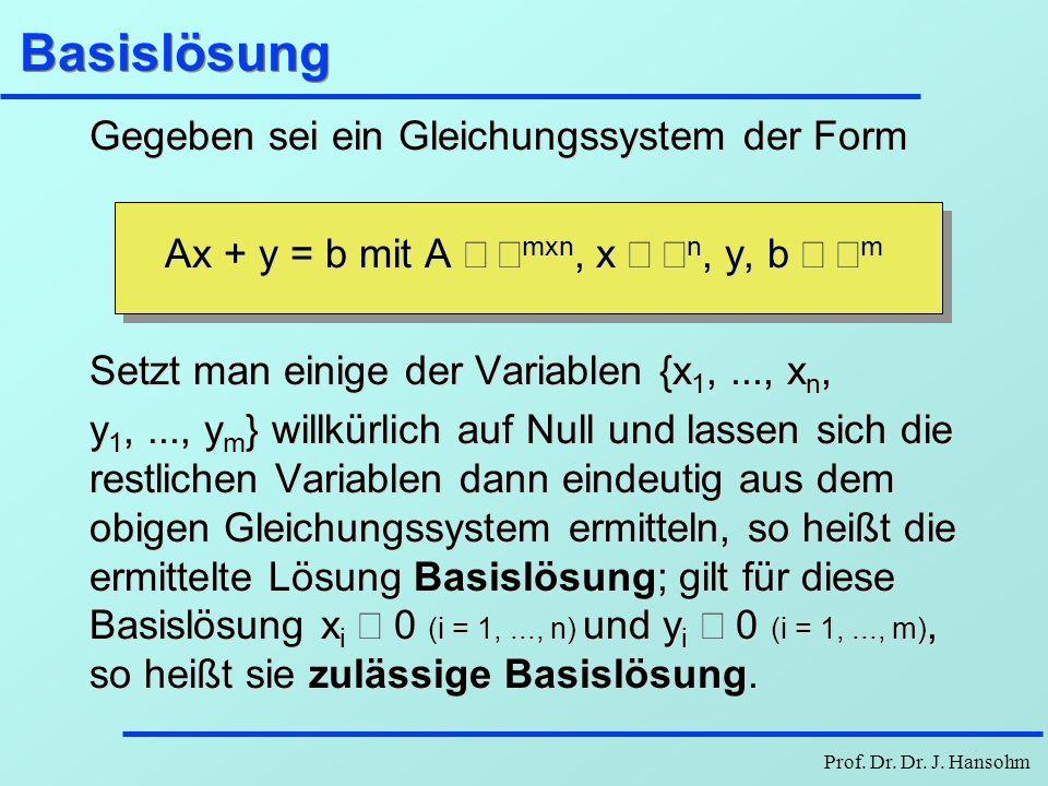 Ax + y = b mit A Î Âmxn, x Î Ân, y, b Î Âm