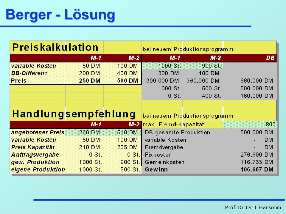 Berger - Lösung