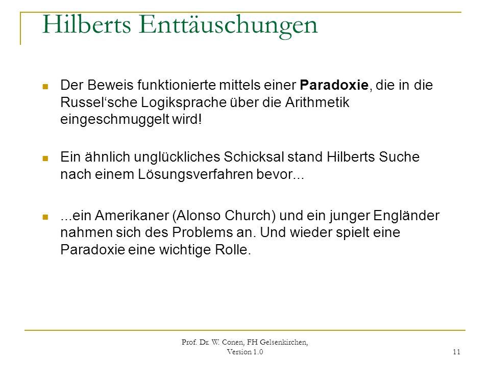 Hilberts Enttäuschungen