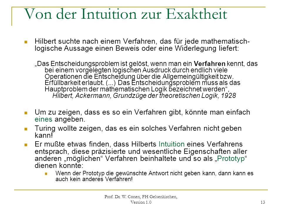 Von der Intuition zur Exaktheit