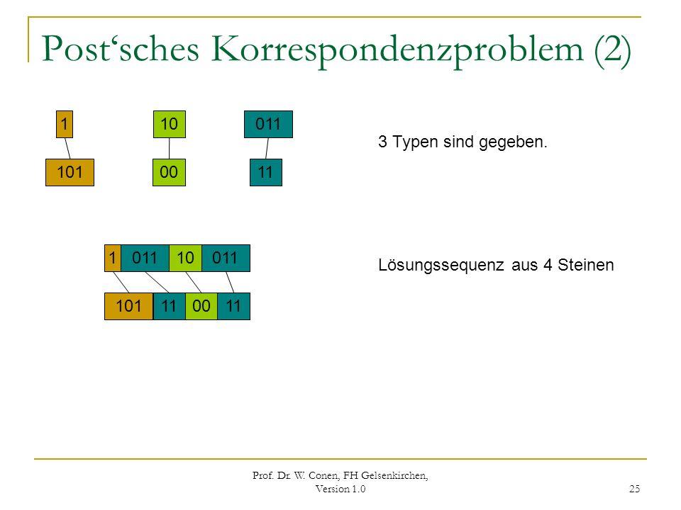 Post'sches Korrespondenzproblem (2)