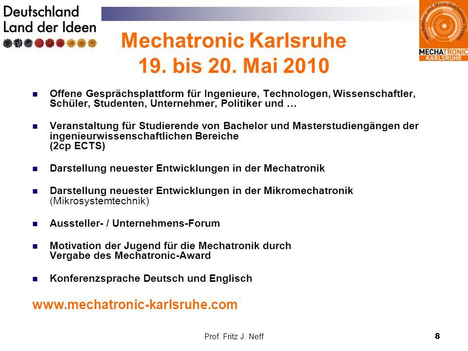 Mechatronic Karlsruhe 19. bis 20. Mai 2010