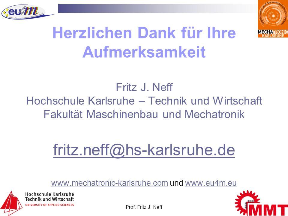 Herzlichen Dank für Ihre Aufmerksamkeit Fritz J