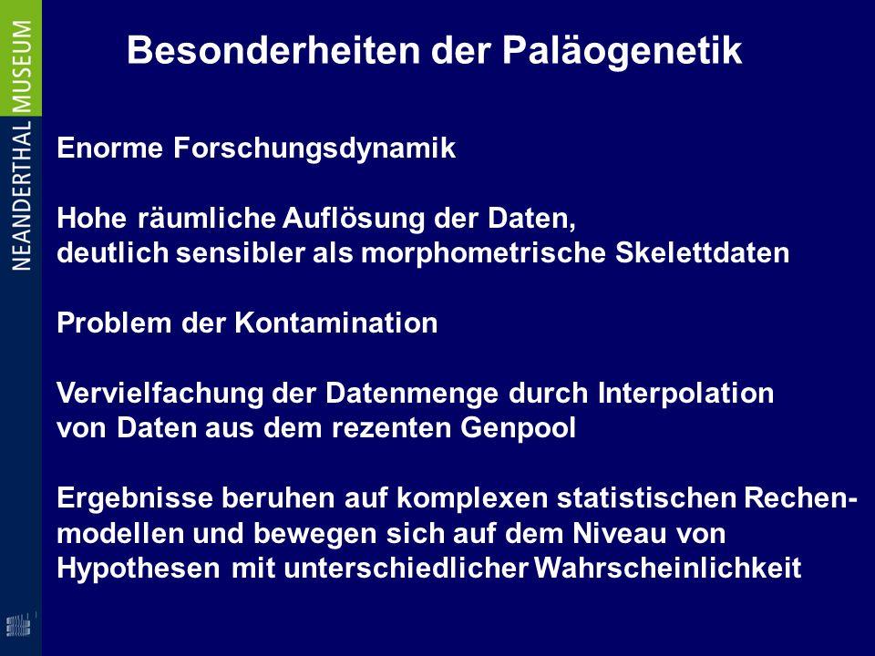 Besonderheiten der Paläogenetik