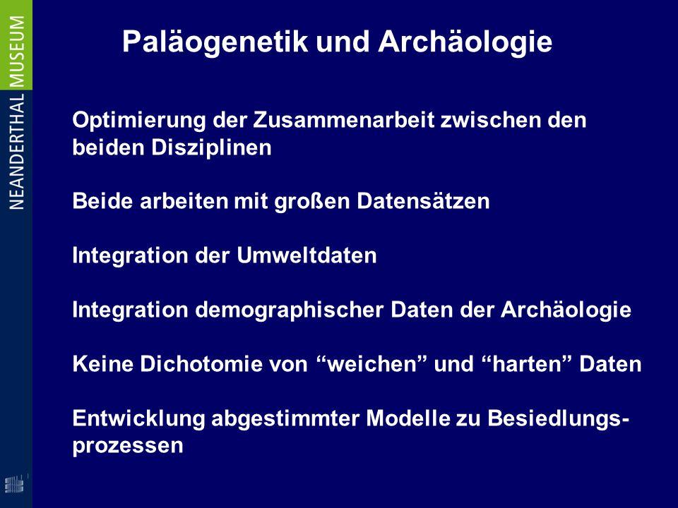 Paläogenetik und Archäologie