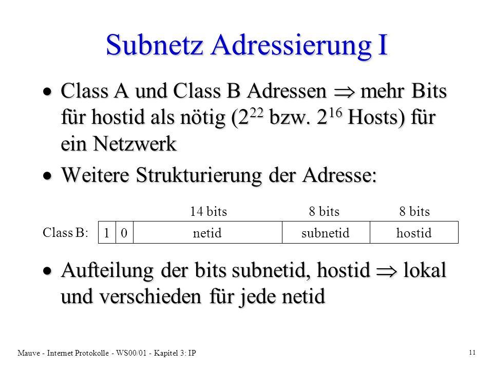 Subnetz Adressierung I