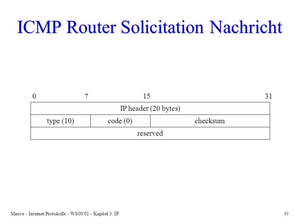 ICMP Router Solicitation Nachricht