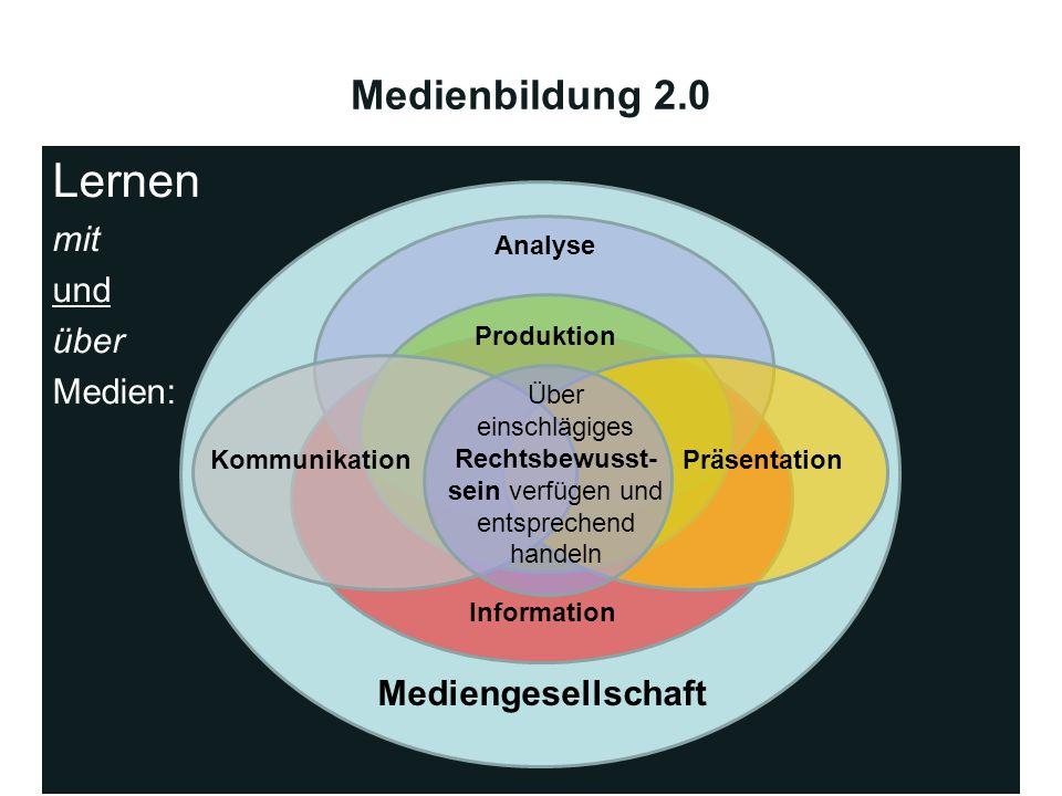 Lernen Medienbildung 2.0 mit und über Medien: Mediengesellschaft