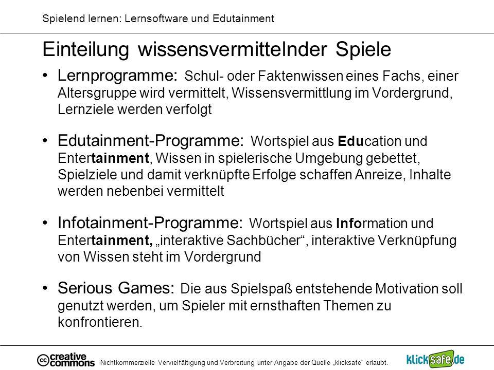 Spielend lernen: Lernsoftware und Edutainment