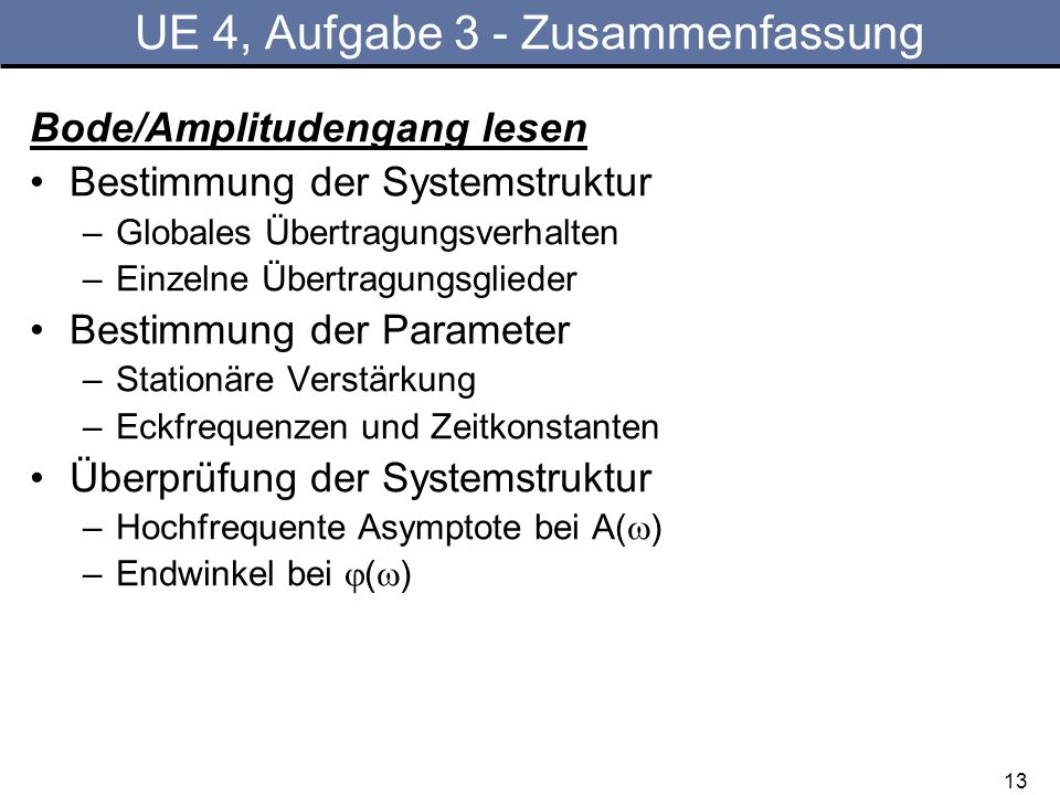 UE 4, Aufgabe 3 - Zusammenfassung