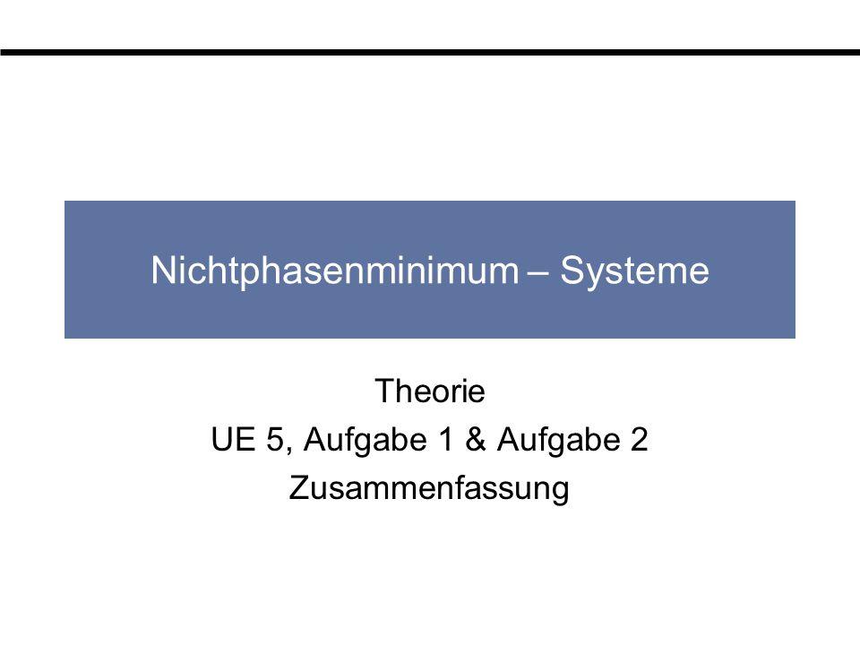 Nichtphasenminimum – Systeme