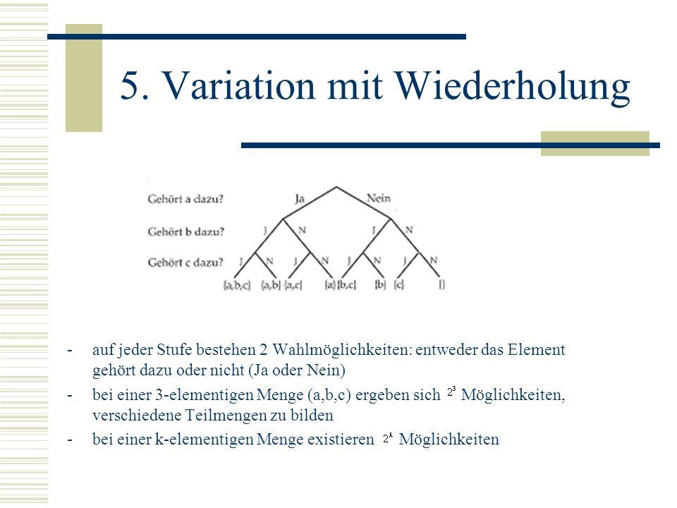 5. Variation mit Wiederholung