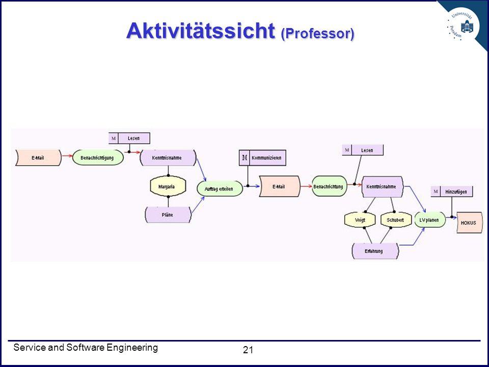 Aktivitätssicht (Professor)