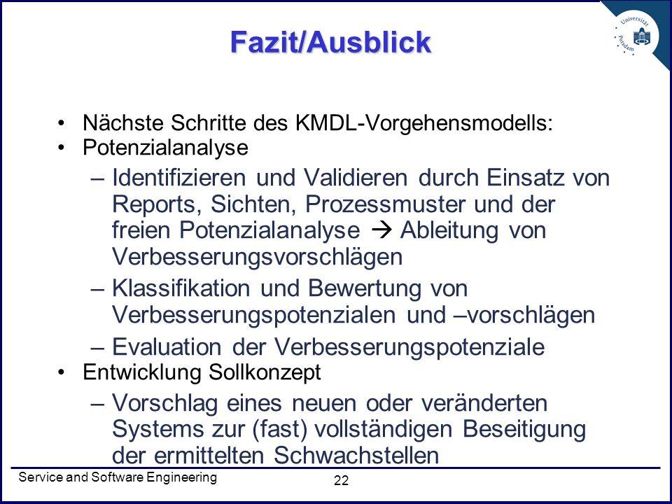 Fazit/Ausblick Nächste Schritte des KMDL-Vorgehensmodells: Potenzialanalyse.