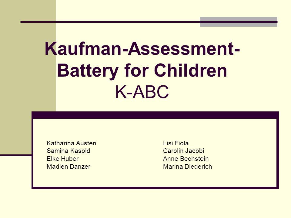 Kaufman-Assessment-Battery for Children K-ABC