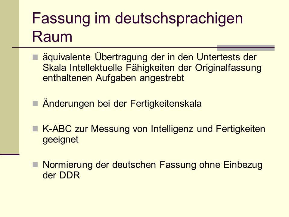 Fassung im deutschsprachigen Raum
