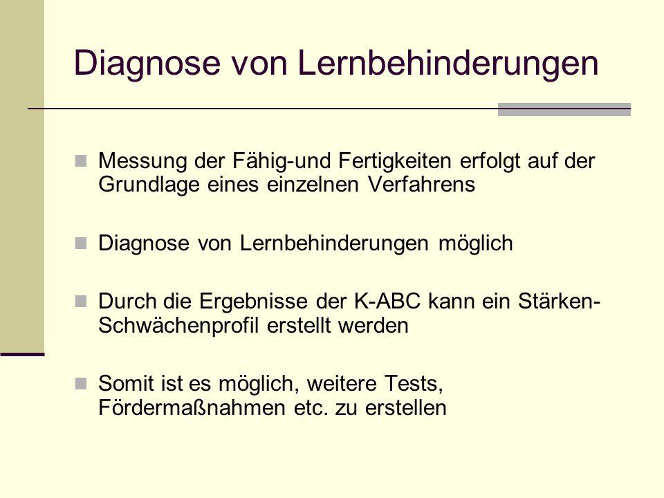 Diagnose von Lernbehinderungen