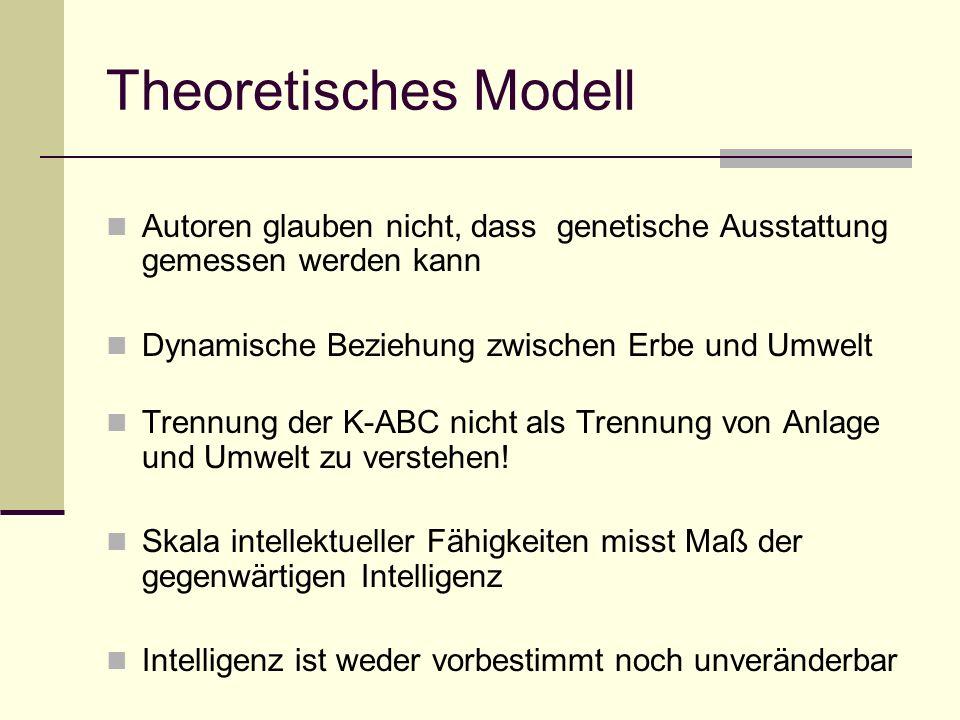 Theoretisches Modell Autoren glauben nicht, dass genetische Ausstattung gemessen werden kann. Dynamische Beziehung zwischen Erbe und Umwelt.