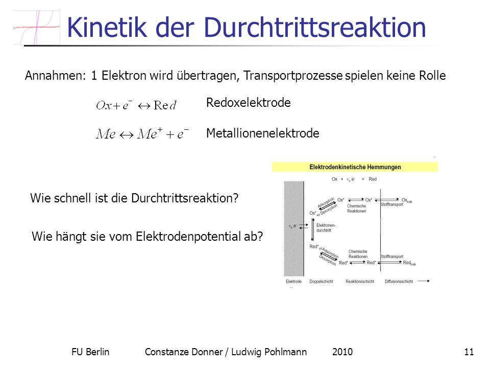 Kinetik der Durchtrittsreaktion