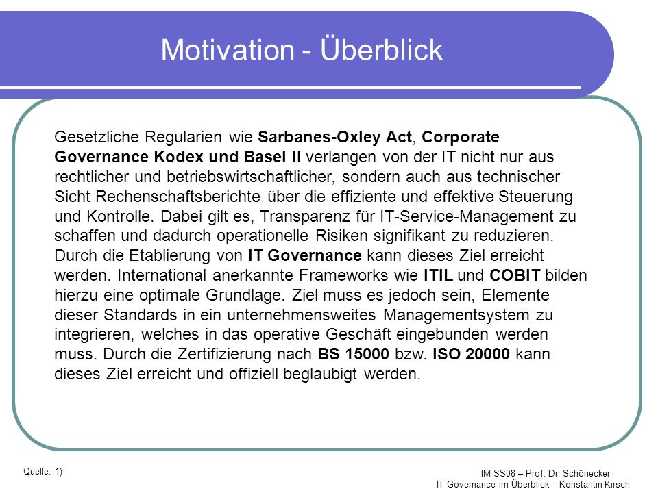 Motivation - Überblick