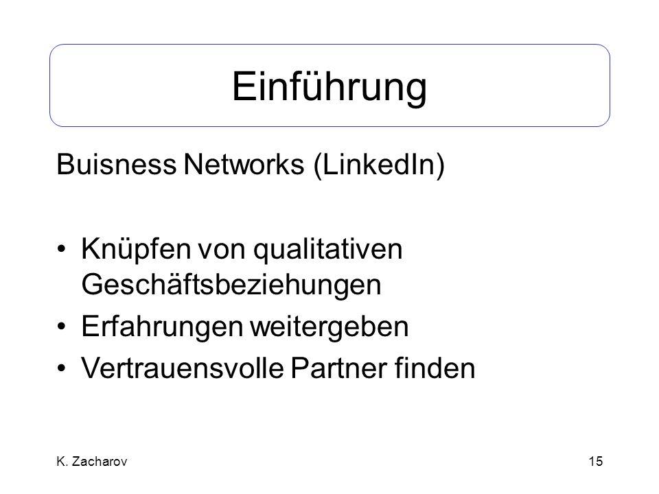 Einführung Buisness Networks (LinkedIn)
