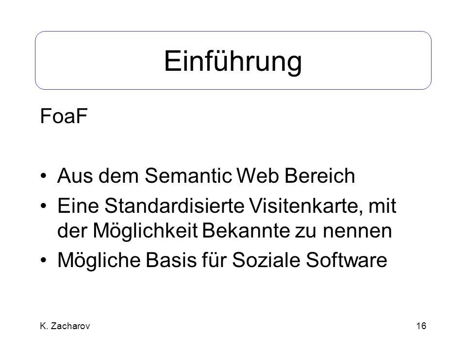 Einführung FoaF Aus dem Semantic Web Bereich
