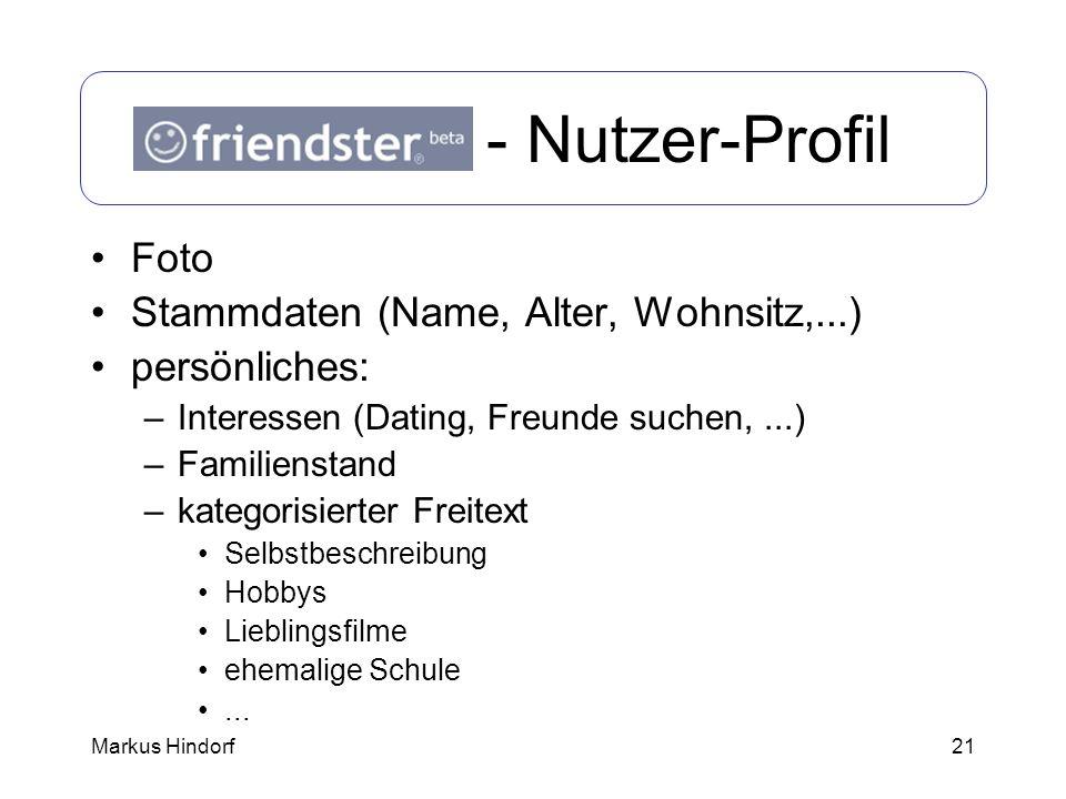 Friendster - Nutzer-Profil