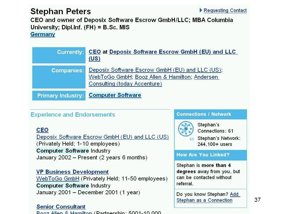Experience, Companies, etc. modular (weitere hinzufügbar)