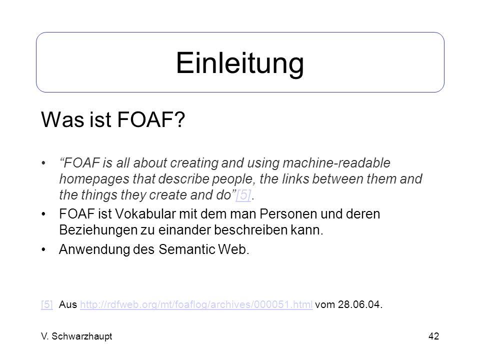 Einleitung Was ist FOAF