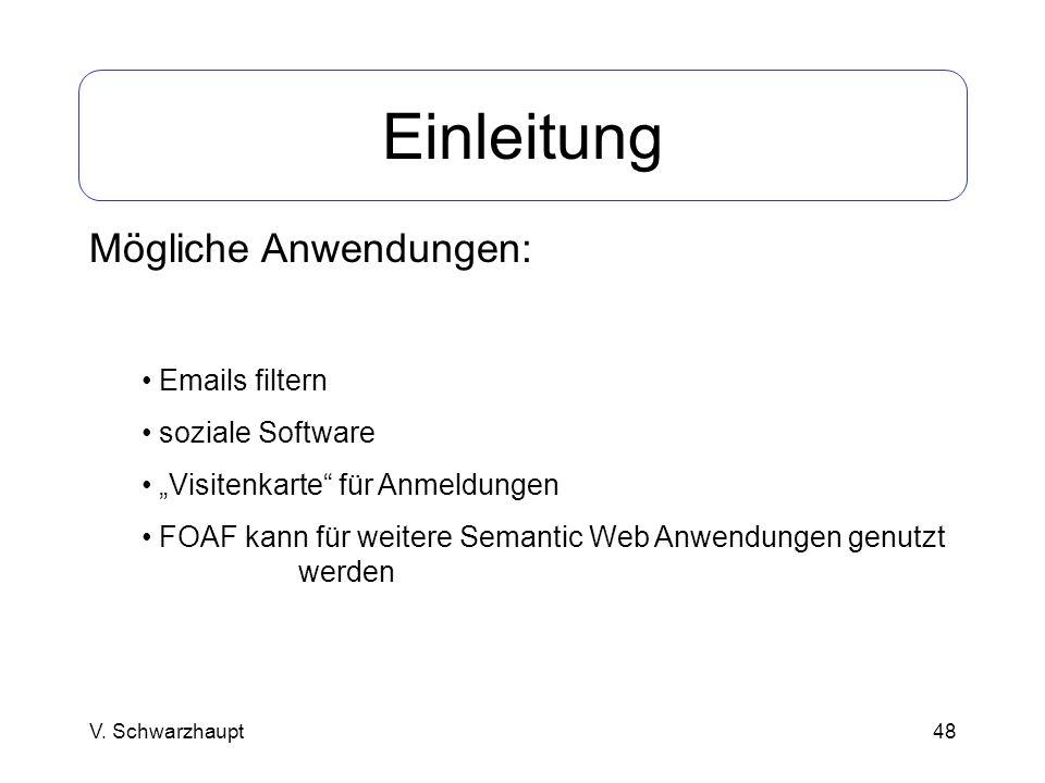 Einleitung Mögliche Anwendungen: Emails filtern soziale Software