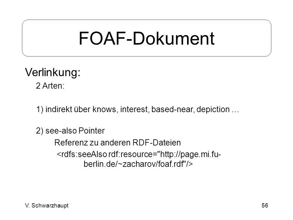 FOAF-Dokument Verlinkung: 2 Arten: