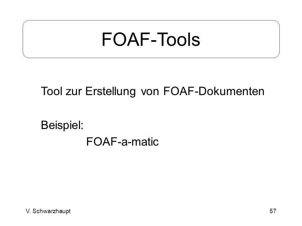 FOAF-Tools Tool zur Erstellung von FOAF-Dokumenten Beispiel: