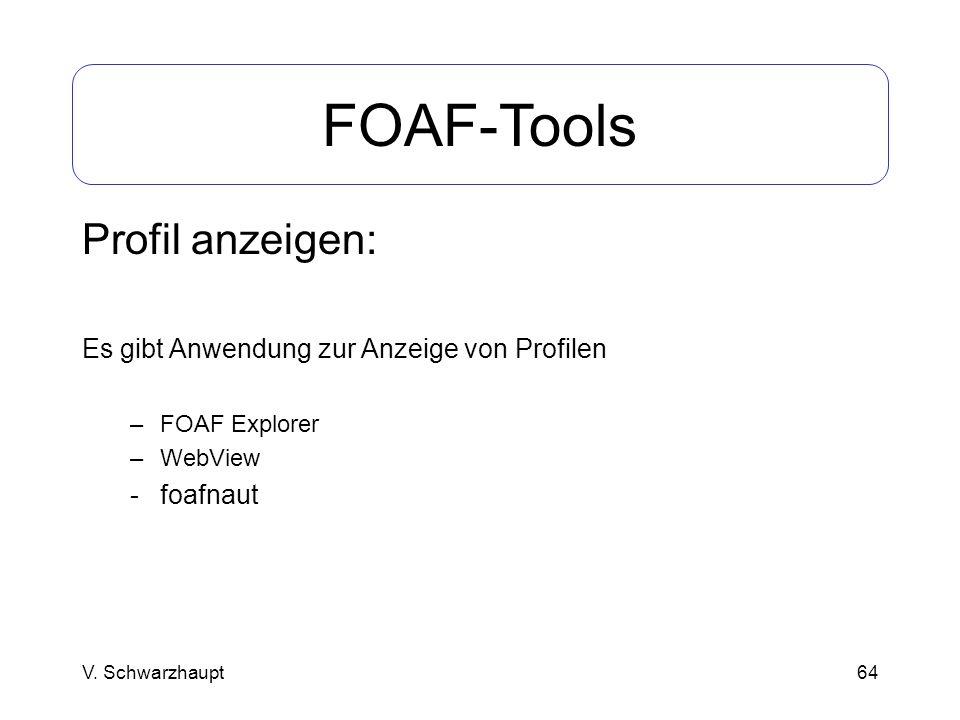 FOAF-Tools Profil anzeigen: Es gibt Anwendung zur Anzeige von Profilen