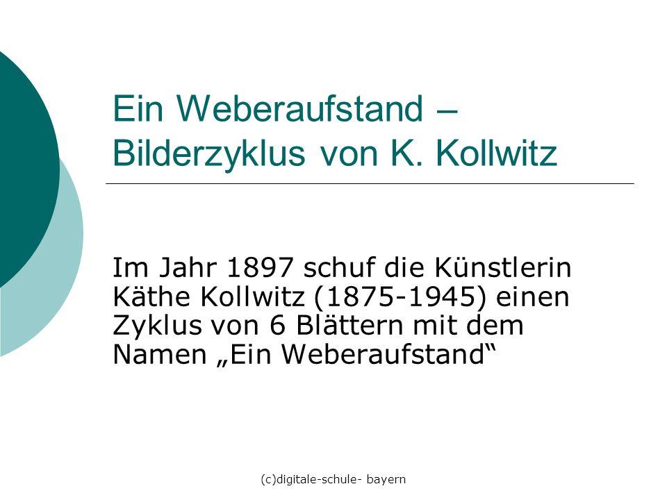 Ein Weberaufstand – Bilderzyklus von K. Kollwitz