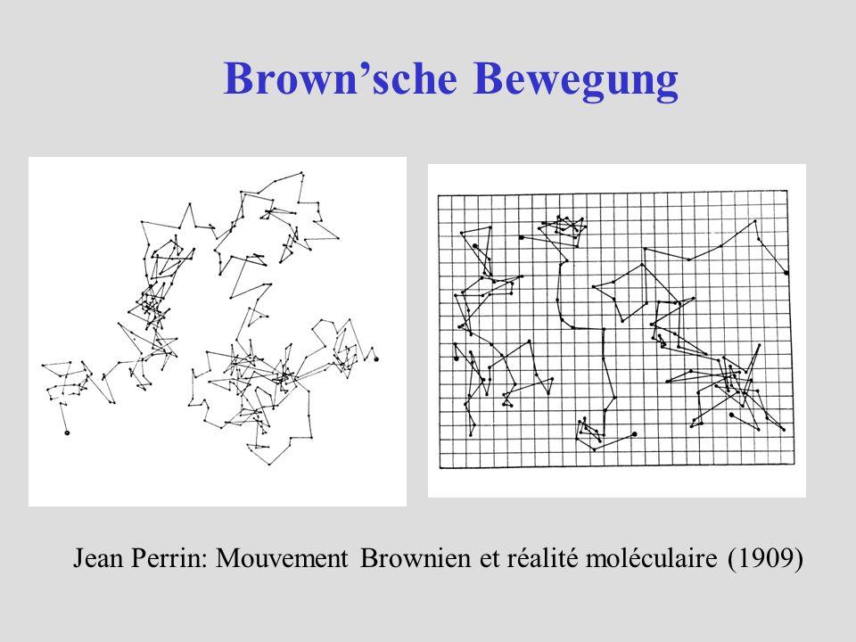 Brown'sche Bewegung Jean Perrin: Mouvement Brownien et réalité moléculaire (1909)