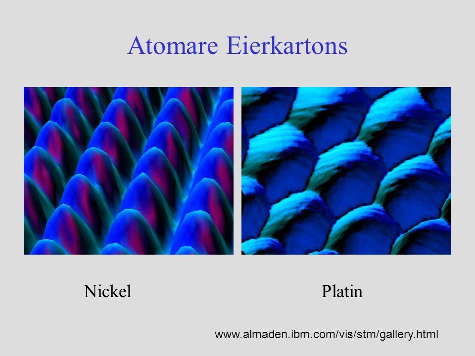 Atomare Eierkartons Nickel Platin