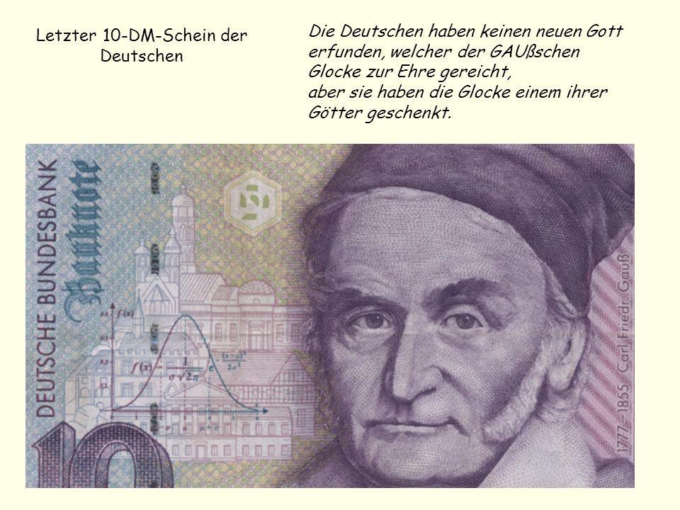Letzter 10-DM-Schein der Deutschen