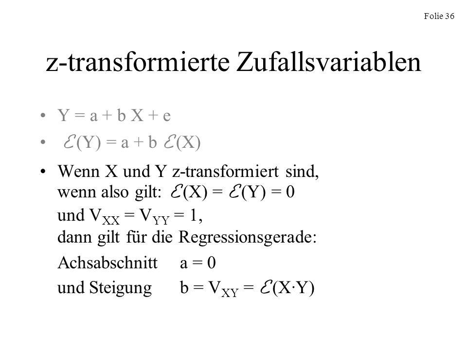 z-transformierte Zufallsvariablen