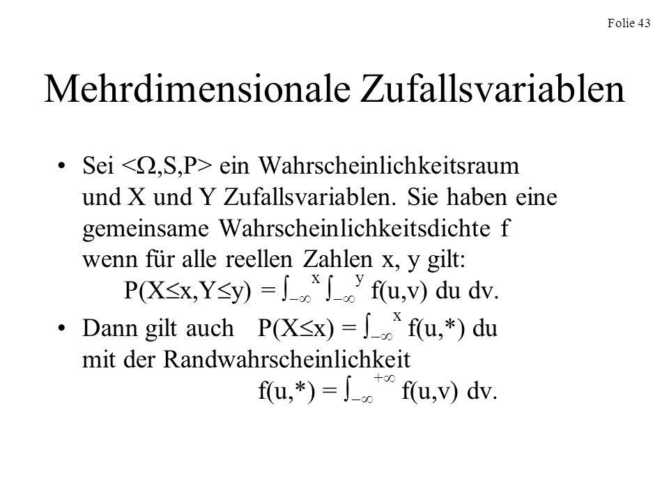 Mehrdimensionale Zufallsvariablen