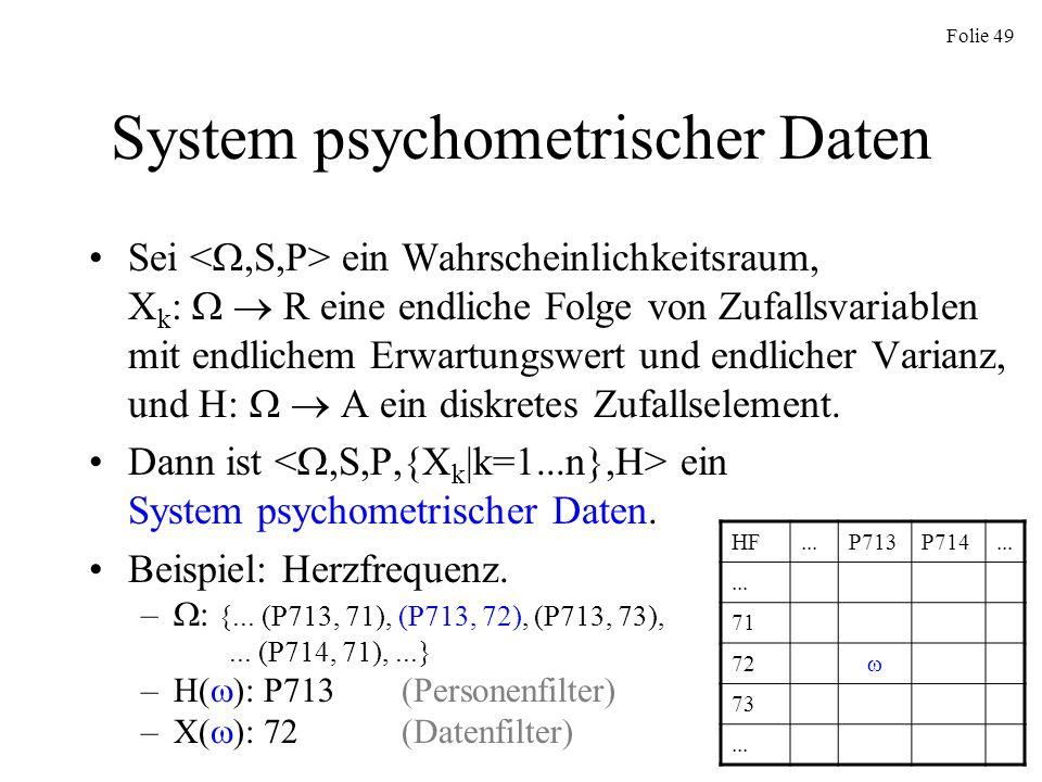 System psychometrischer Daten