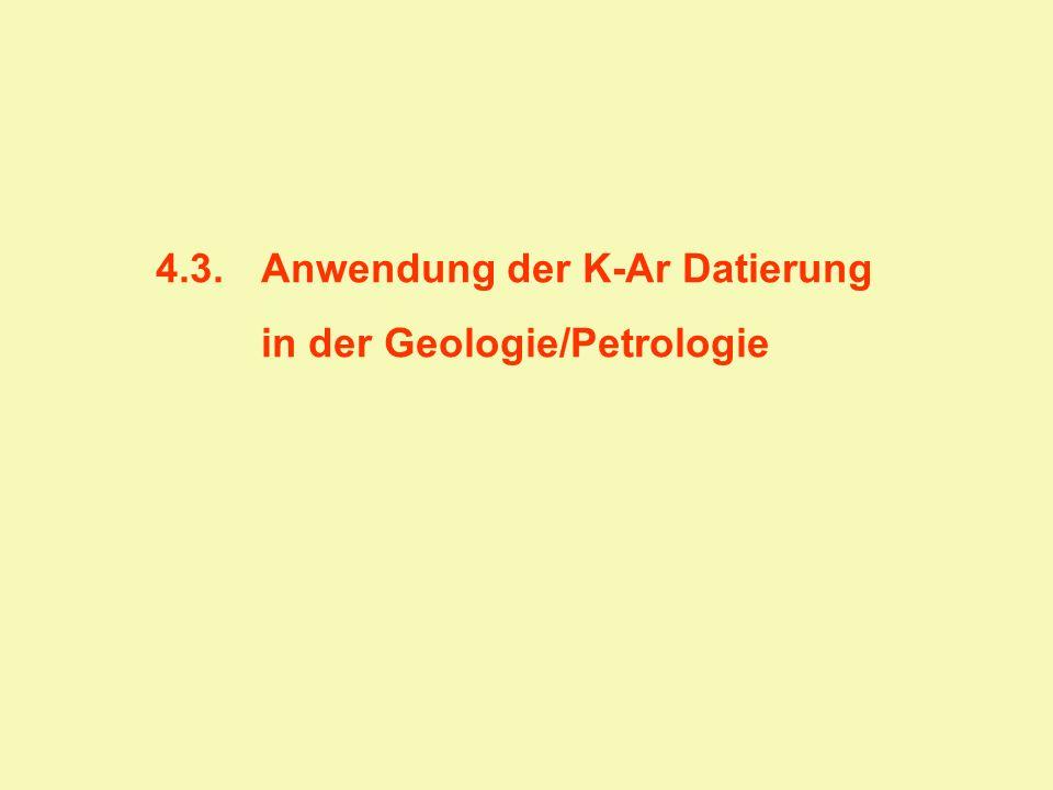 4.3. Anwendung der K-Ar Datierung