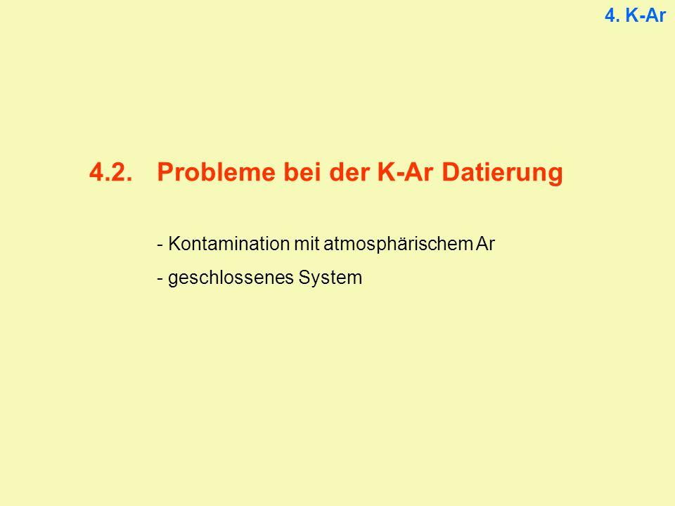 4.2. Probleme bei der K-Ar Datierung