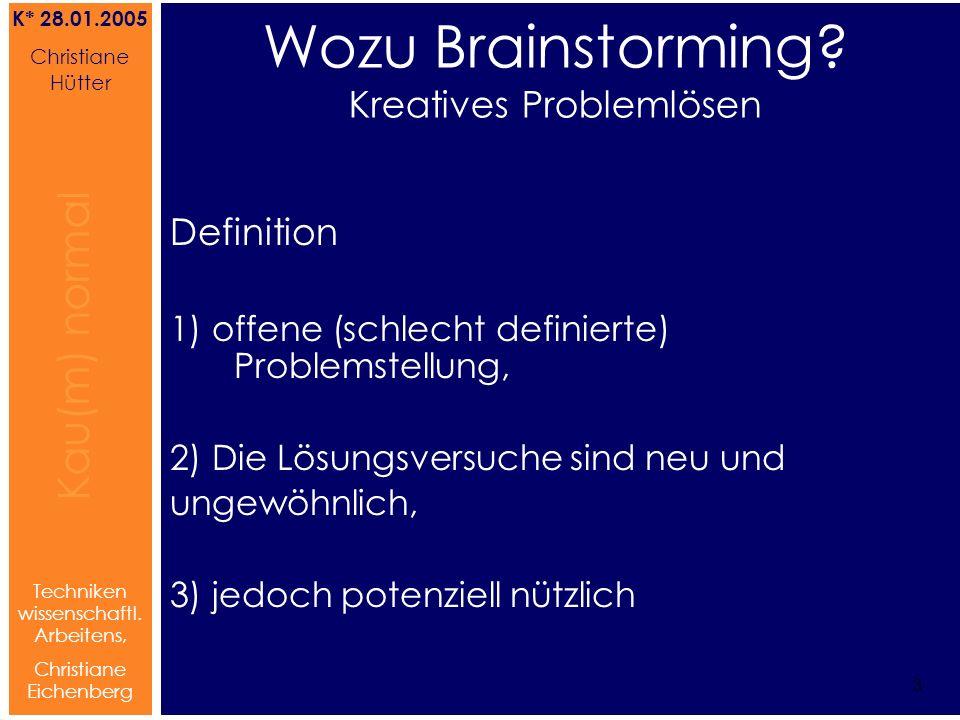 Wozu Brainstorming Kreatives Problemlösen