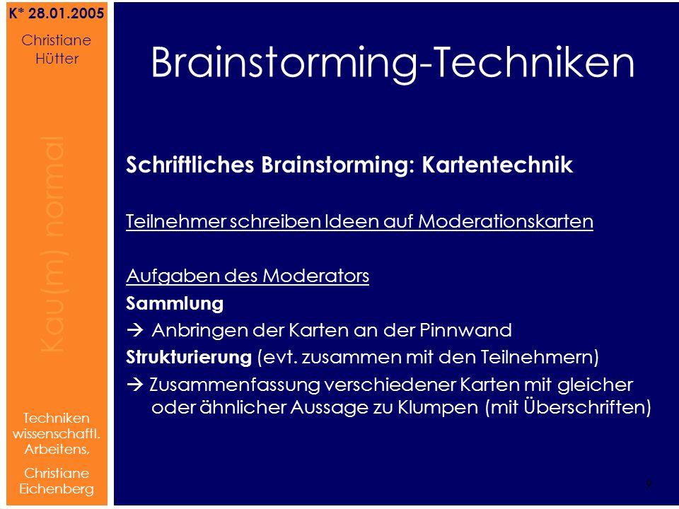 Brainstorming-Techniken