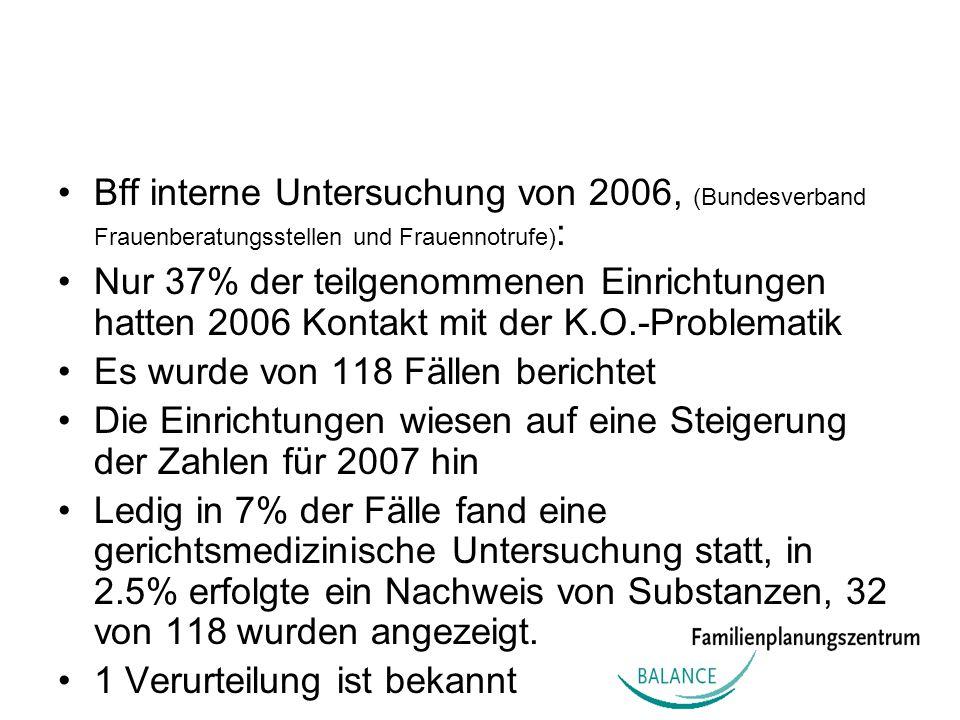 Bff interne Untersuchung von 2006, (Bundesverband Frauenberatungsstellen und Frauennotrufe):