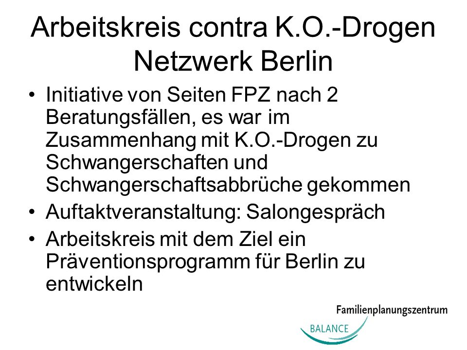 Arbeitskreis contra K.O.-Drogen Netzwerk Berlin