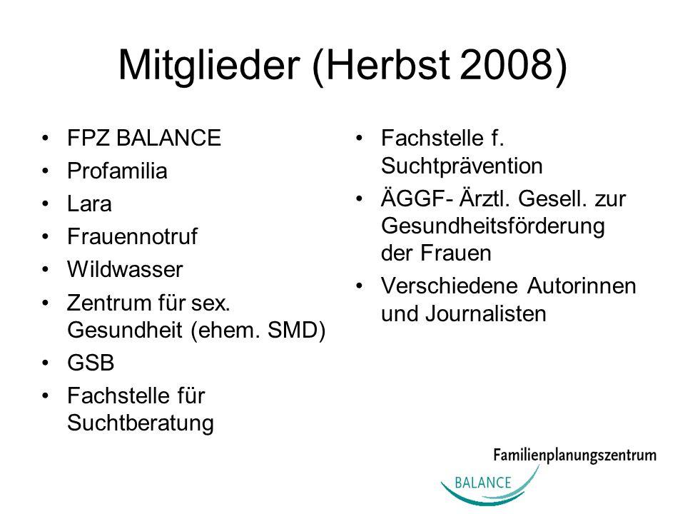 Mitglieder (Herbst 2008) FPZ BALANCE Profamilia Lara Frauennotruf